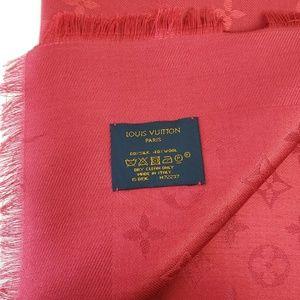 Louis Vuitton Accessories - Louis Vuitton Red Shawl Scarf Pomme d' Amoure
